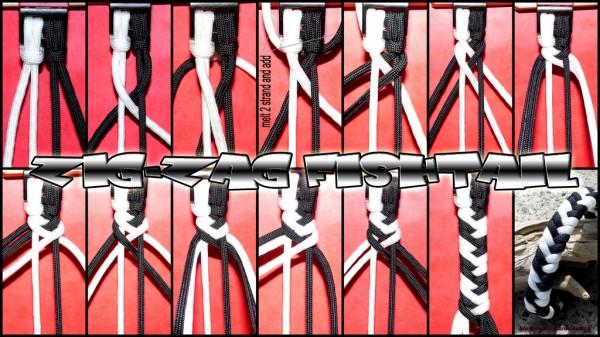 zig-zag Fishtail Armband Tutorial