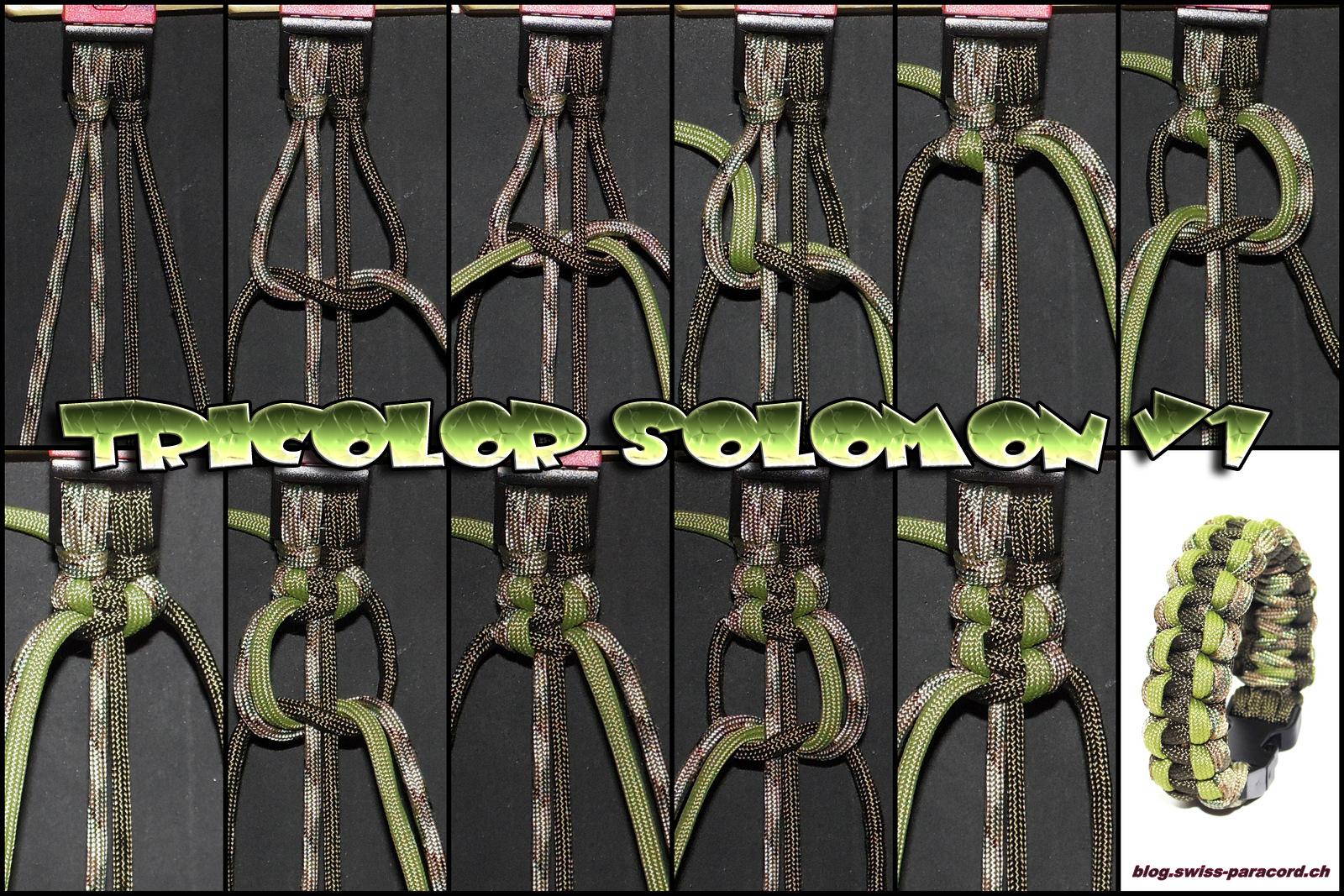 tricolor solomon v1 gorilla v1 tutorial swiss paracord