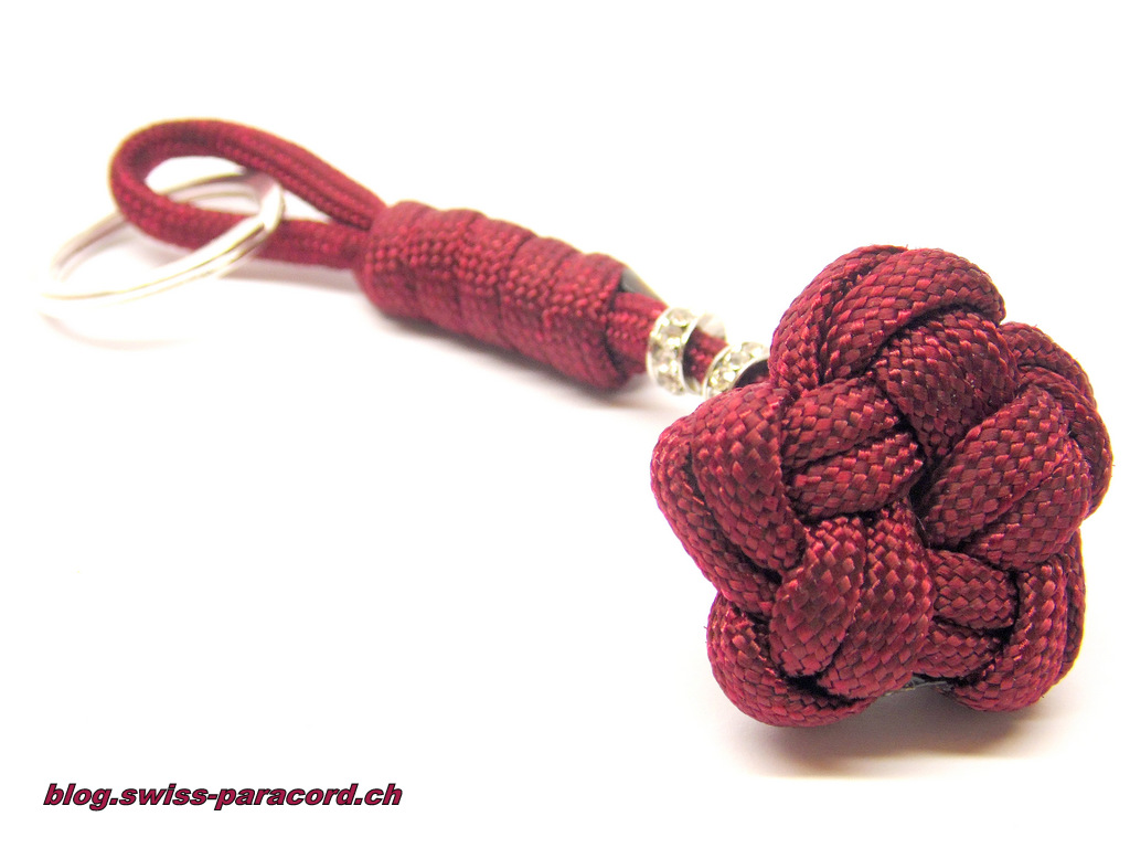 single strand star knot key fob swiss paracord. Black Bedroom Furniture Sets. Home Design Ideas