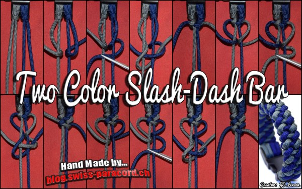 Two Color Slash-Dash Bar Tutorial