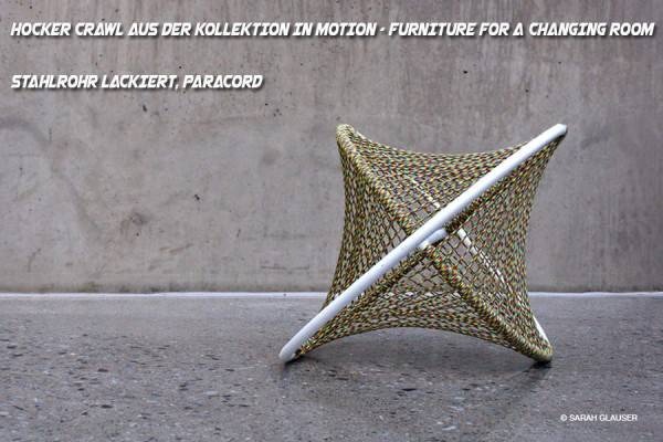 Hocker CRAWL aus der Kollektion IN MOTION – Furniture for a Changing Room