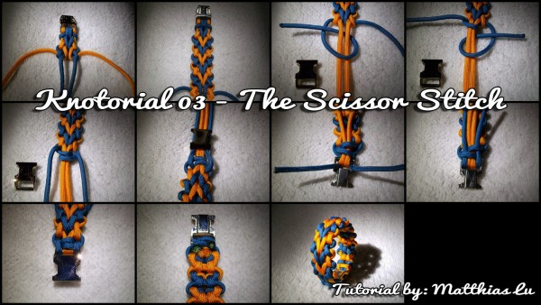 Knotorial 03 - The Scissor Stitch (Bracelet)
