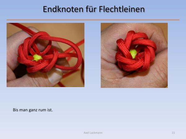 Endknoten für FlechtleinenEndknoten für Flechtleinen