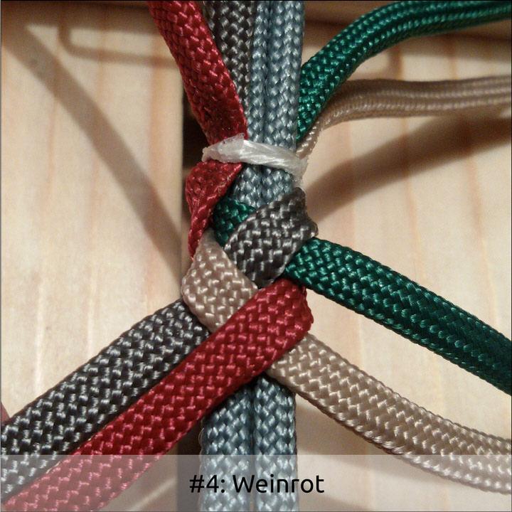4 Strand Round Braid w/ Gaucho Knot   Swiss Paracord