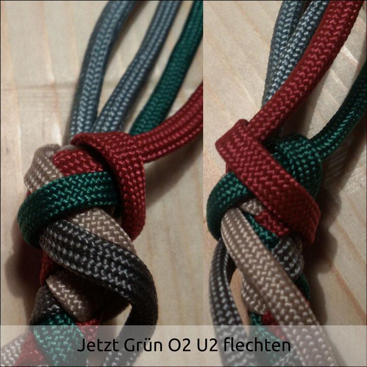 4 Strand Round Braid w/ Gaucho Knot | Swiss Paracord