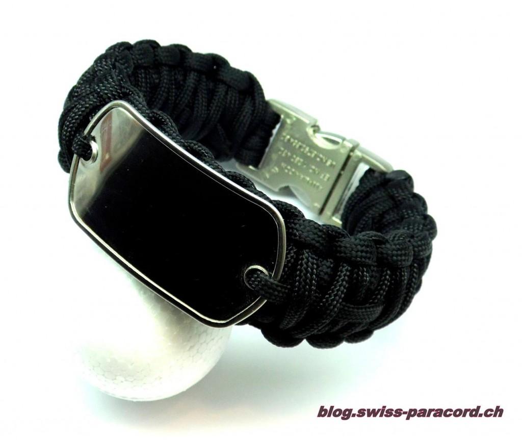 DogTag Armband mit Aluminium Verschluss