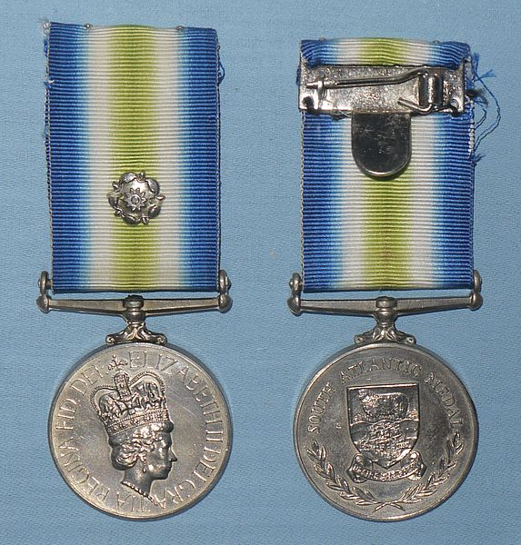 A pair of South Atlantic Medals