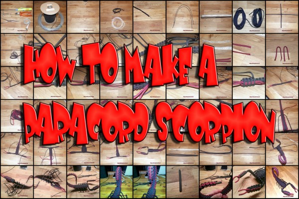 how to make a paracord scorpion