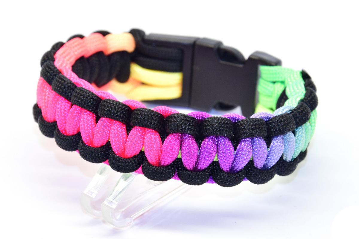 Kobra Armband mit Multicolor Polycord