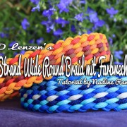 12 Strand Wide Round Braid mit Farbwechsel