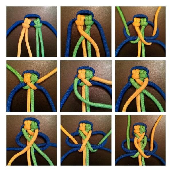 Crisscrossed Turks Knot Bar
