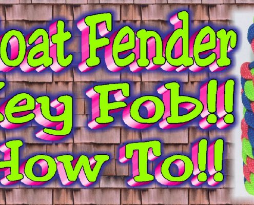 How To Make A Paracord Boat Fender Key Fob